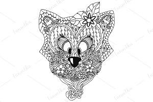 Doodle cat patterned