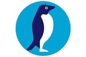 Adelie Penguin Circle Retro