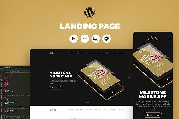 Milestone Portfolio. Landing Page - Portfolio