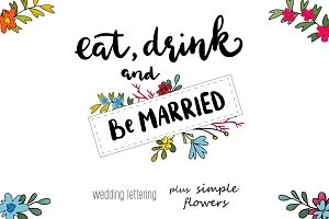 50% OFF Wedding lettering