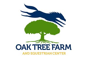 Horse Jumping Over Oak Tree Retro