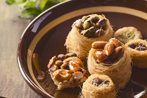Syrian pastry and tea