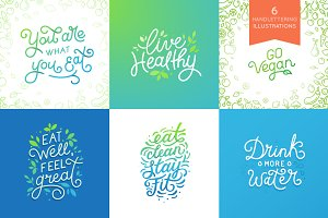 Live healthy - hand-lettering