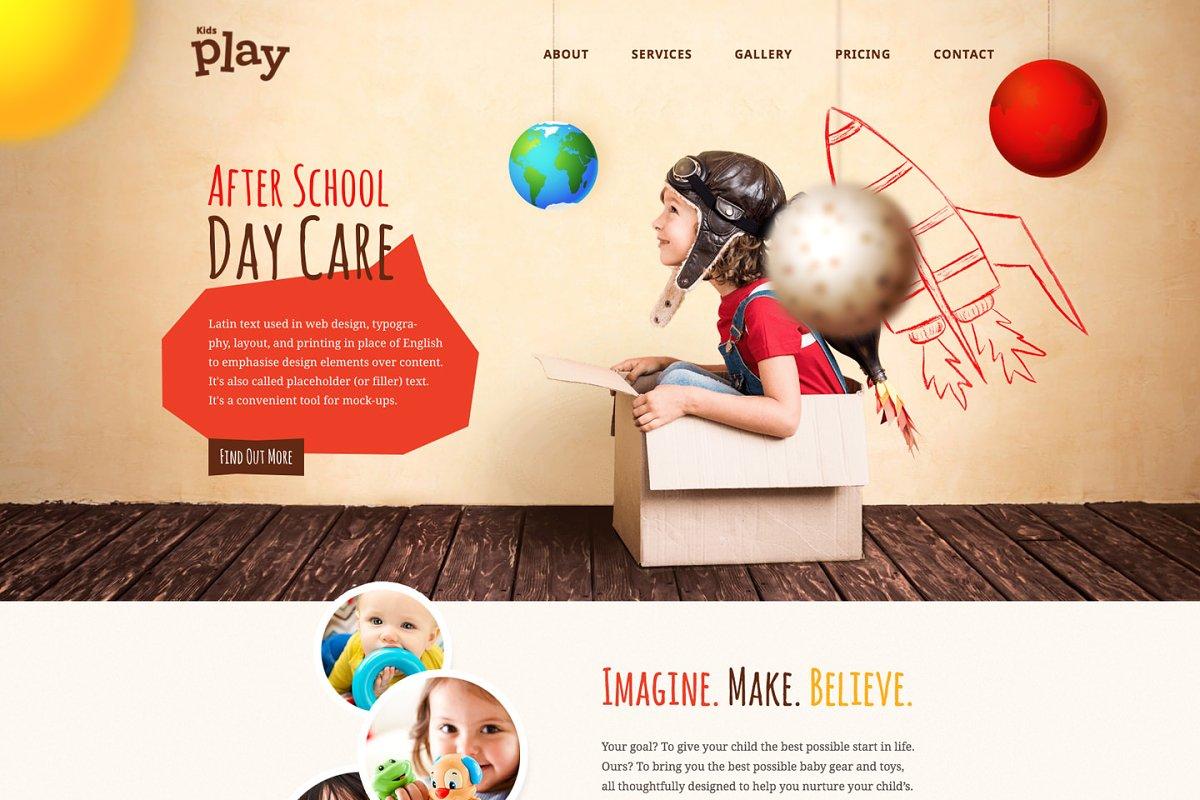 Kids Play - Kindergarten WP Theme ~ WordPress Business Themes