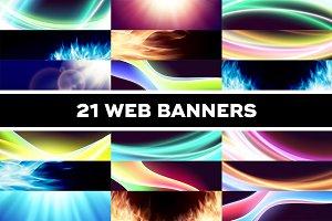 Vibrant web banners set
