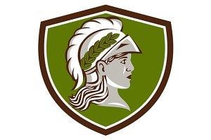 Minerva Head Crest Retro