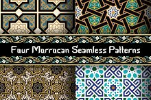 4 different Morocco patterns