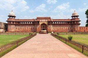 Jahangir Palace, Agra Fort, India.