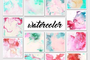 31 Watercolor Textures