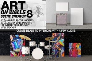 Canvas Mockups - Frames Mockups v 8