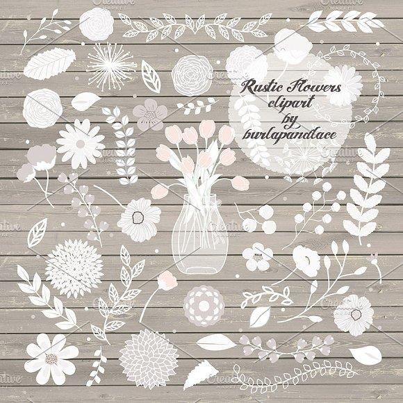 Rustic flowers clipart ~ Illustrations ~ Creative Market