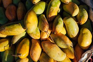 Mangoes at the street market