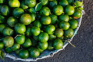 Green vietnamese oranges