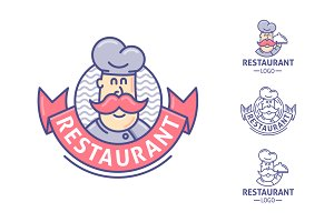 Restaurant, chef logo