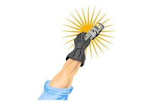 Hand Holding Adjustable Wrench