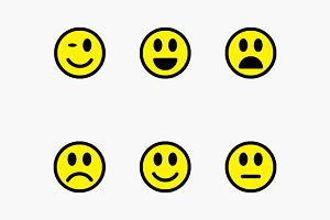 Smiley, Sad, Happy Faces Vector