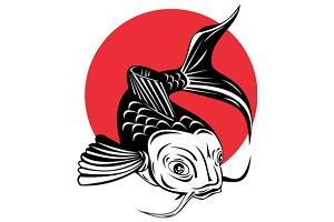 Koi Carp Fish Jumping
