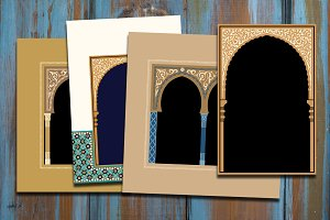 4 Cards based on Morocco Arches