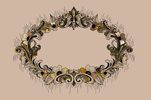 Flowered frame. Vector