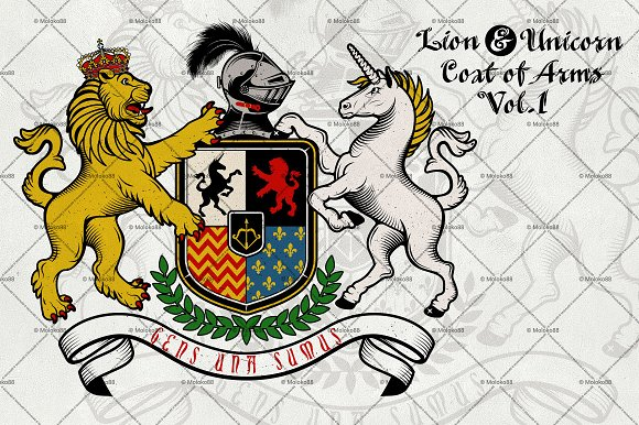 Coat of Arms of Knight.Vol. 1 - Illustrations