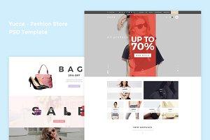 Yucca - Fashion Store PSD Template