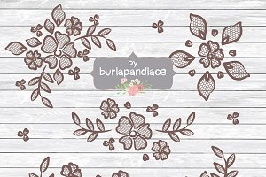 Rustic lace clipart