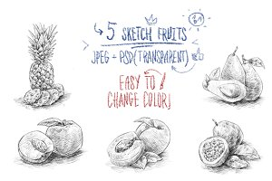Sketch fruits #3