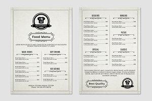 Food / Restaurant Menu Flyer-V367