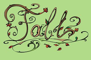 Fall. Lettering. Vector