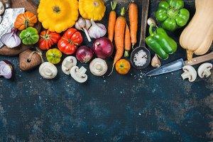 Fall harvest vegetable ingredients