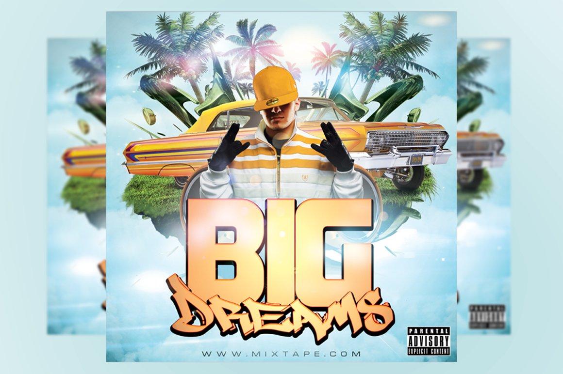 Big Dreams Mixtape Cover Template Templates Creative Market