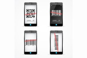 Barcode Scanner Mobile Set