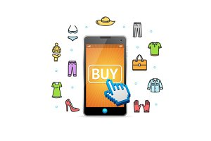Online Shopping Clothing with Mobile