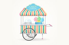 Cotton Candy Street Market Stall