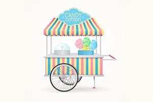 Cotton Candy Street Market Stall