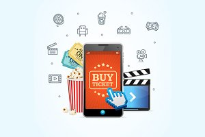 Online Ticket Cinema with Mobile