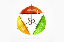 Umbrellas Infographics. Vector