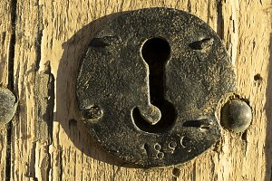 wooden door locks background