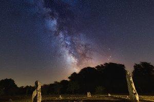 Milky Way over Mendiluze cromlech