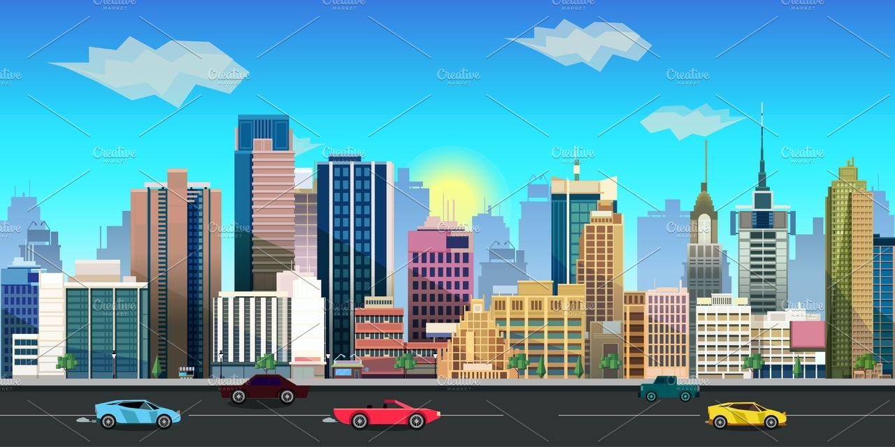 2d city background illustrations creative market