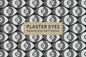 Plaster Eyes Seamless Patterns