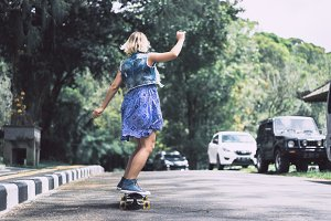 girl on a skateboard