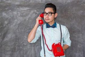 Young asian man portrait