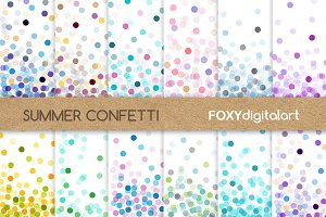Confetti Digital Paper Pack