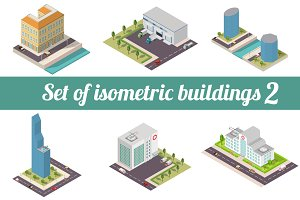 Set of isometric buildings 2