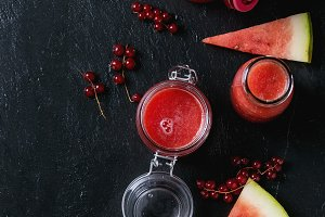 Watermelon and red currant smoothie