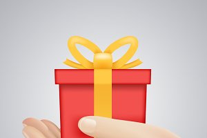 Hand Holding Giftbox