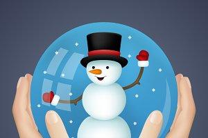 Hand Holding Snowball