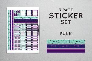 Planner Sticker Set - Funk