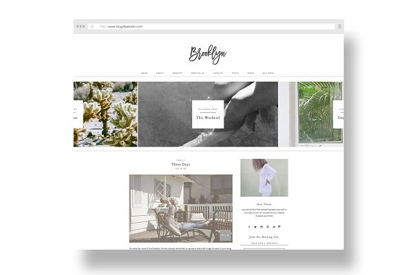 WordPress Portfolio Themes: blogzilla studio - brooklyn / a portfolio + blog